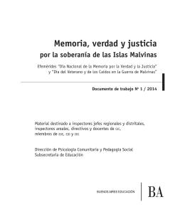 Memoria, verdad y justicia por la soberanía de las