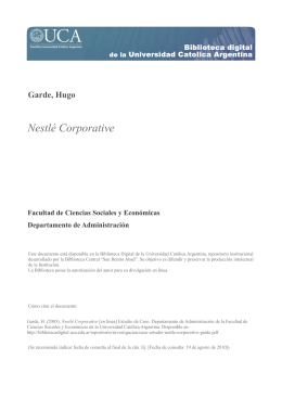 Nestlé Corporative - Biblioteca Digital