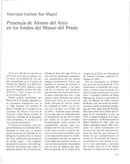 Presencia de Alonso del Arco en los fondos del Museo del Prado