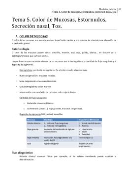 Tema 5. Color de Mucosas, Estornudos, Secreción
