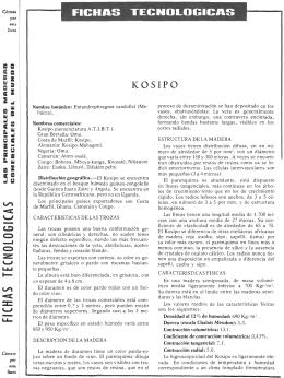 Fichas tecnológicas: Kosipo y Sipo