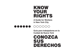 know your rights conozca sus derechos