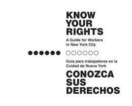 know your rights conozca sus derechos