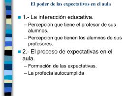 El poder de las expectativas en el aula
