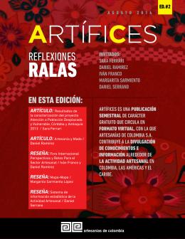 Revista Artífices Segunda Edición.