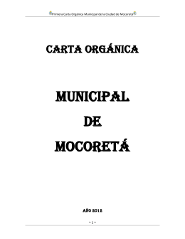 CARTA ORGANICA MOCORETA