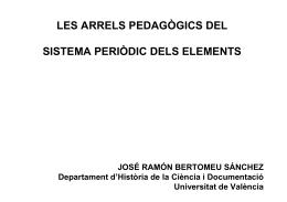 les arrels pedagògics del sistema periòdic dels elements