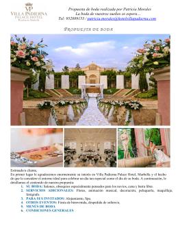 PROPUESTA DE BODA - Hotel Villa Padierna