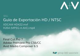 Guía Exportación HD NTSC_A+V