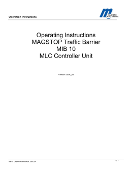 MIB 10 Gate Manual