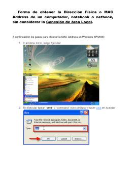 Forma de obtener la Dirección Física o MAC Address de un