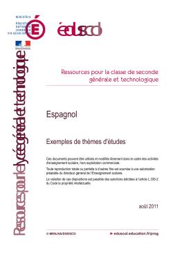 Exemples de thèmes - Espagnol - Education