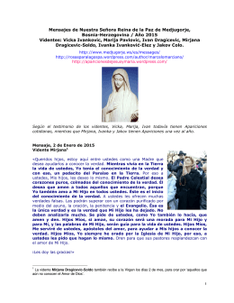 Mensajes de Nuestra Señora Reina de la Paz de Medjugorje