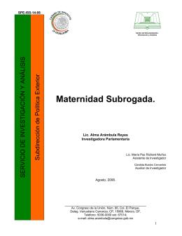 Maternidad Subrogada.