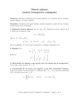 Matriz adjunta (matriz transpuesta conjugada)