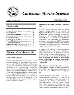 Caribbean Marine Science - The Association of Marine Laboratories