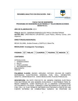 RAE BACGY - Universidad Católica de Colombia