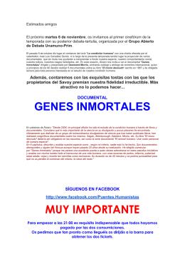 GENES INMORTALES MUY IMPORTANTE