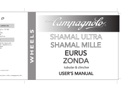 Manual de usuario ruedas Shamal Mille