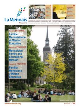 La Mennais Magazine - Frères de l`instruction Chrétienne et Laïcs