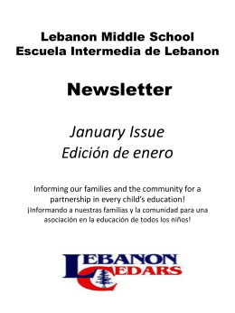 Newsletter January Issue - Lebanon School District