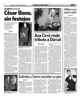 César Bono, sin festejos