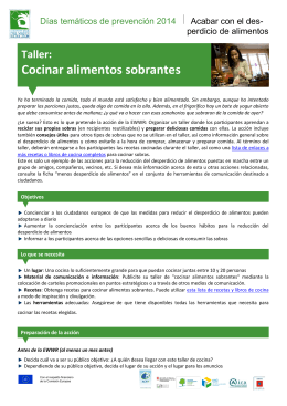 Cocina con sobras - The European Week for Waste Reduction