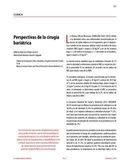 Perspectivas de la cirugía bariátrica