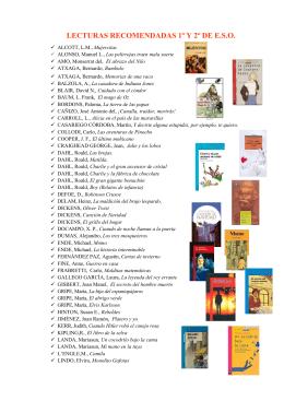 Lecturas recomendadas 2014-2015