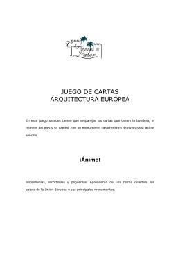 JUEGO DE CARTAS ARQUITECTURA EUROPEA