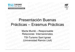 Ejemplo de gestión Erasmus prácticas