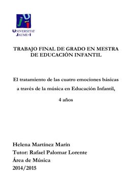 Helena Martínez Marín Tutor: Rafael Palomar