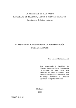 El testimonio, Roque Dalton y la representación de la catástrofe