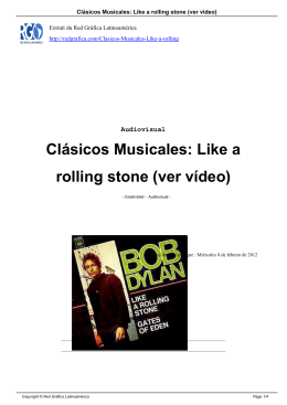 Clásicos Musicales: Like a rolling stone (ver vídeo)