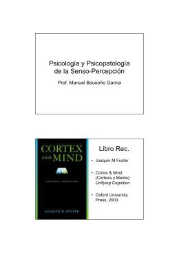 Psicología y Psicopatología de la Senso