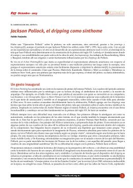 Jackson Pollock, el dripping como sinthome