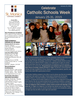 Catholic Schools Week - St. Monica Catholic Church