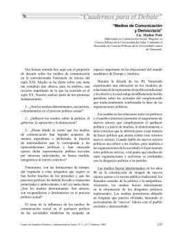 """""""Medios de Comunicación y Democracia""""."""
