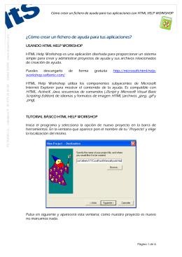 tutorial básico sobre cómo empezar a trabajar con HTML Help