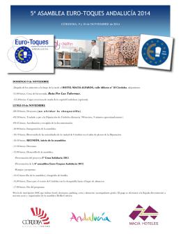 5ª asamblea euro-toques andalucía 2014