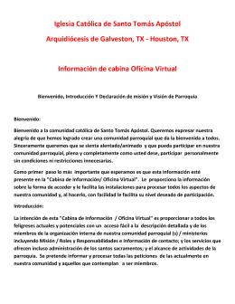 Iglesia Católica de Santo Tomás Apóstol Arquidiócesis de