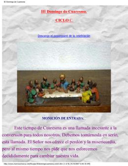III Domingo de Cuaresma, Ciclo C