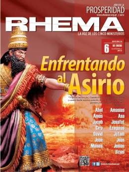 Revista Rhema Enero 2013 - Iglesia Jesucristo Rey De Gloria