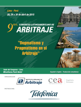 Triptico CONGRESO 2015 - Transnational Dispute Management
