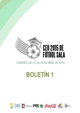 Boletin 1 CEU 2015 FÚTBOL SALA