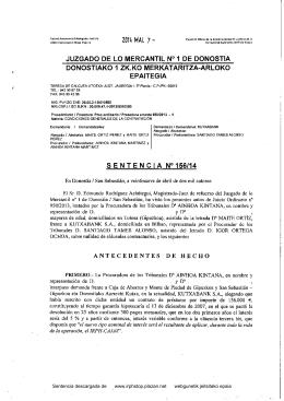 sentencia que declara nulo el IRPH - Plataforma de Afectados por la