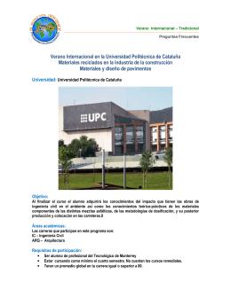 Verano Internacional en la Universidad Politécnica de Cataluña