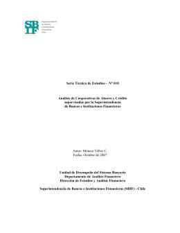 Análisis de Cooperativas de Ahorro y Crédito supervisadas por SBIF