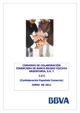 CONVENIO DE COLABORACIÓN FINANCIERA DE BANCO