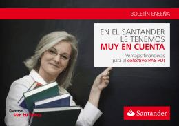 Oferta Santander PAS-PDI
